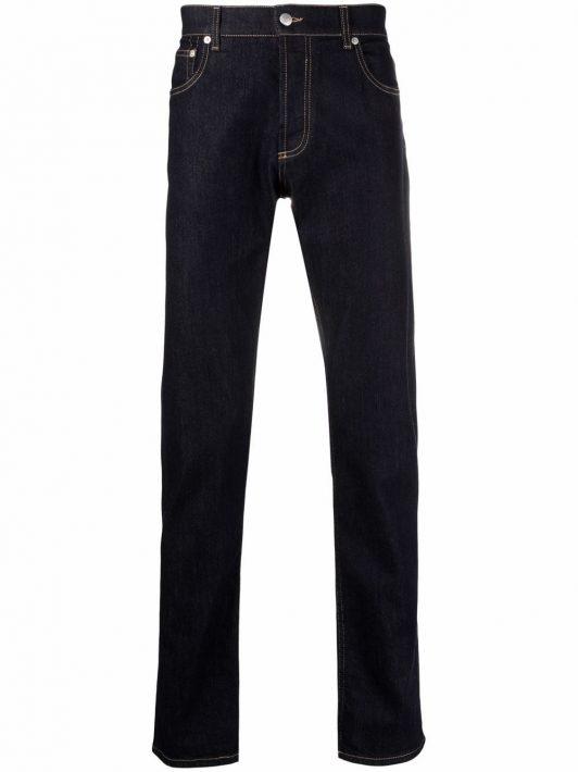Alexander McQueen slim-fit denim jeans - Blau