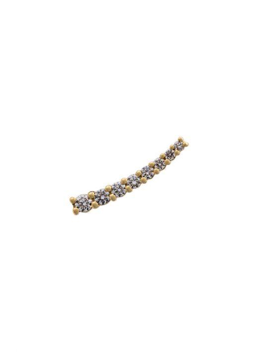 Alinka 18kt 'Dasha' Gelbgoldohrring mit Diamanten - Metallisch