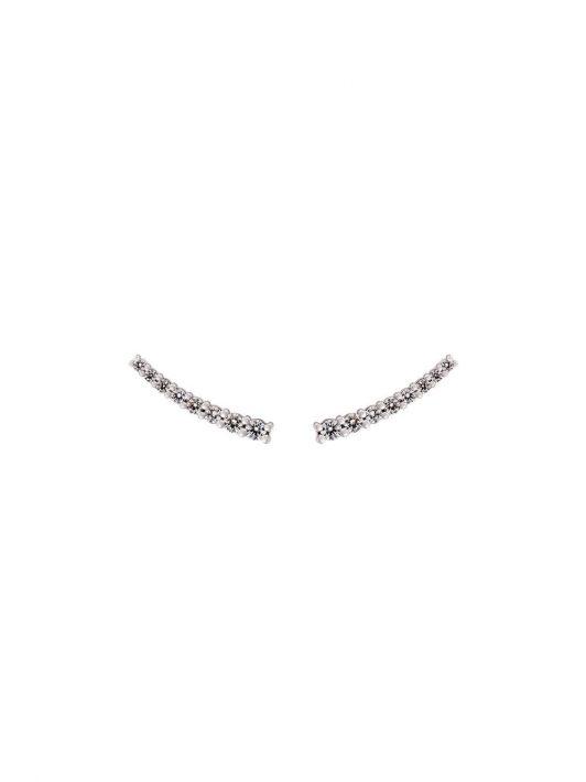 Alinka 18kt 'Dasha' Weißgoldohrringe mit Diamanten - Silber