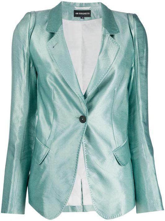 Ann Demeulemeester Blazer mit schmaler Passform - Grün