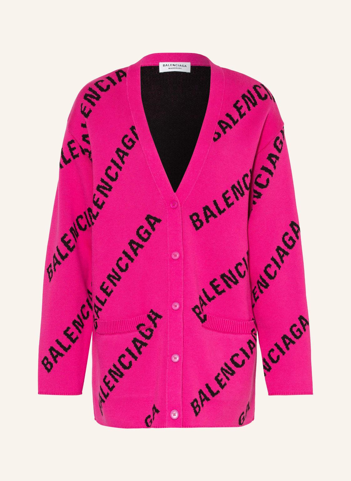 Balenciaga Oversized-Cardigan pink