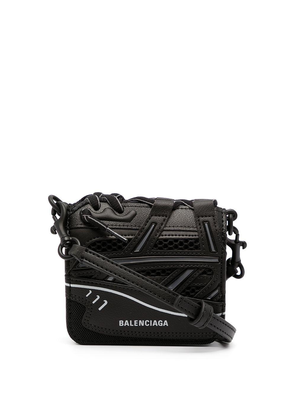 Balenciaga Portemonnaie mit Schulterriemen - 1000 BLACK