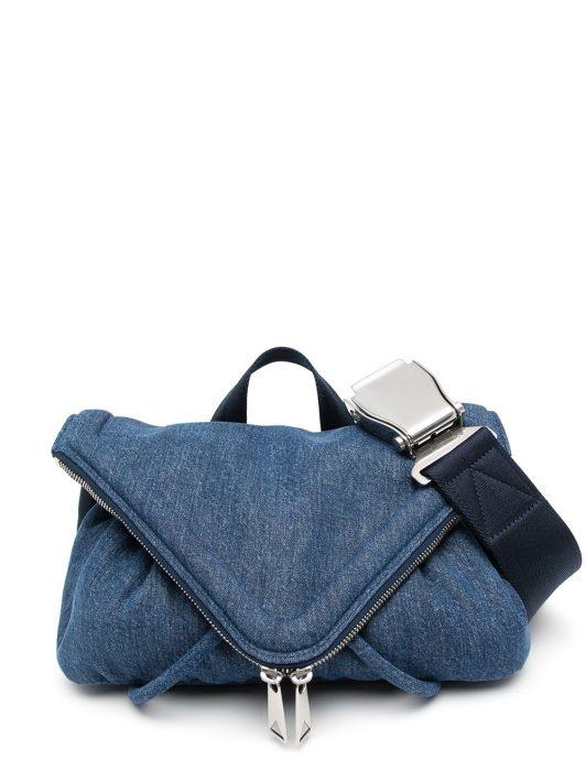 Bottega Veneta Beak washed denim bag - Blau
