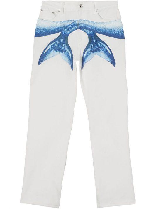 Burberry Jeans mit Meerjungfrau-Flossenmotiv - Weiß
