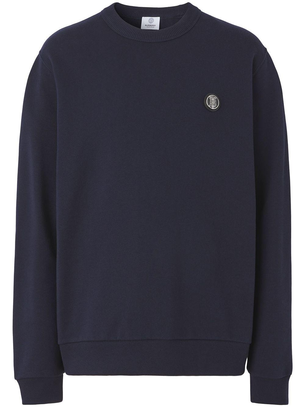Burberry Sweatshirt mit Monogramm-Patch - Blau