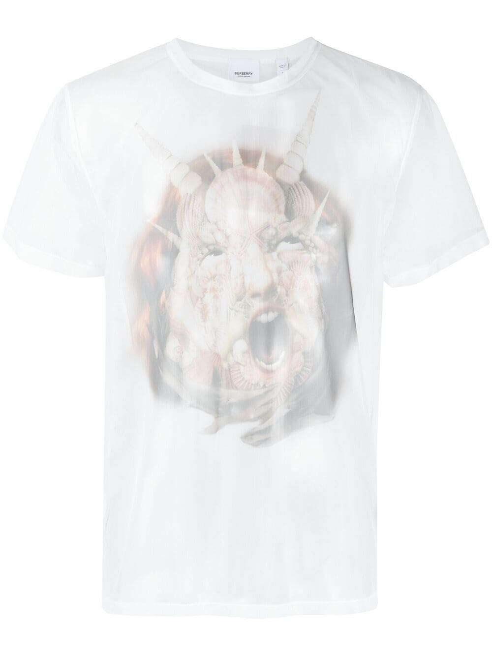 Burberry T-Shirt mit Foto-Print - Weiß
