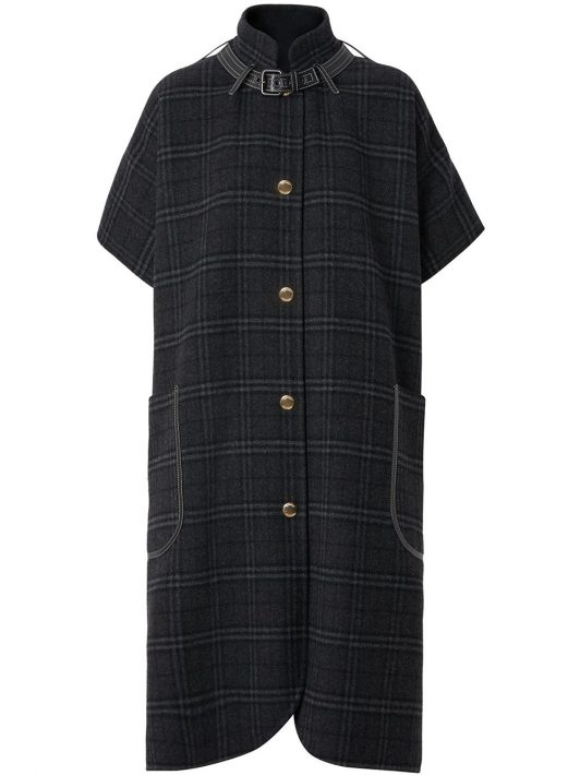 Burberry Vintage Check Cape - Grau