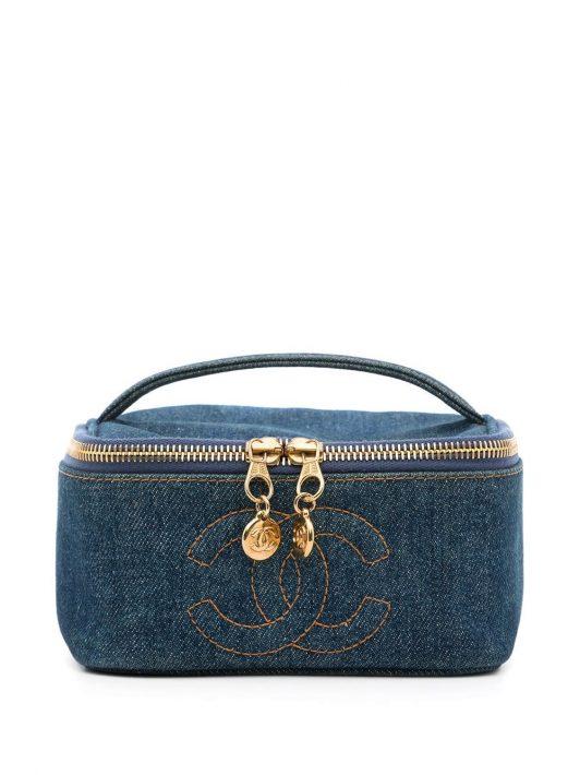 Chanel Pre-Owned 1997 Kosmetikkoffer mit CC-Logo - Blau