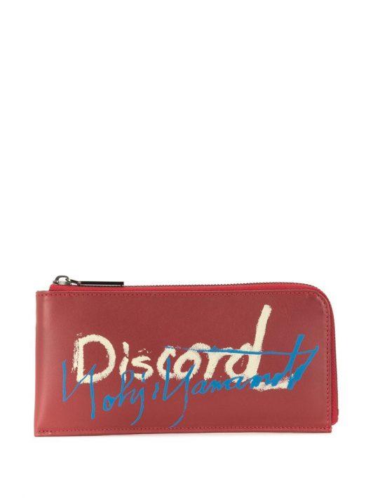 Discord Yohji Yamamoto Portemonnaie mit Print - Rot