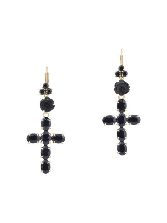 Dolce & Gabbana 18kt 'Devotion' Gelbgoldohrringe