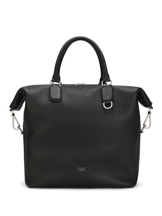 Dolce & Gabbana Reisetasche aus weichem Leder - Schwarz
