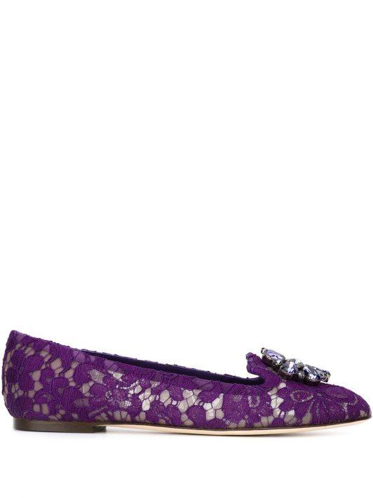 Dolce & Gabbana 'Vally' Slipper - Violett