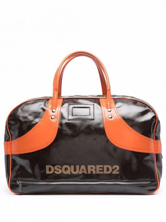 Dsquared2 Reisetasche mit Logo - Braun