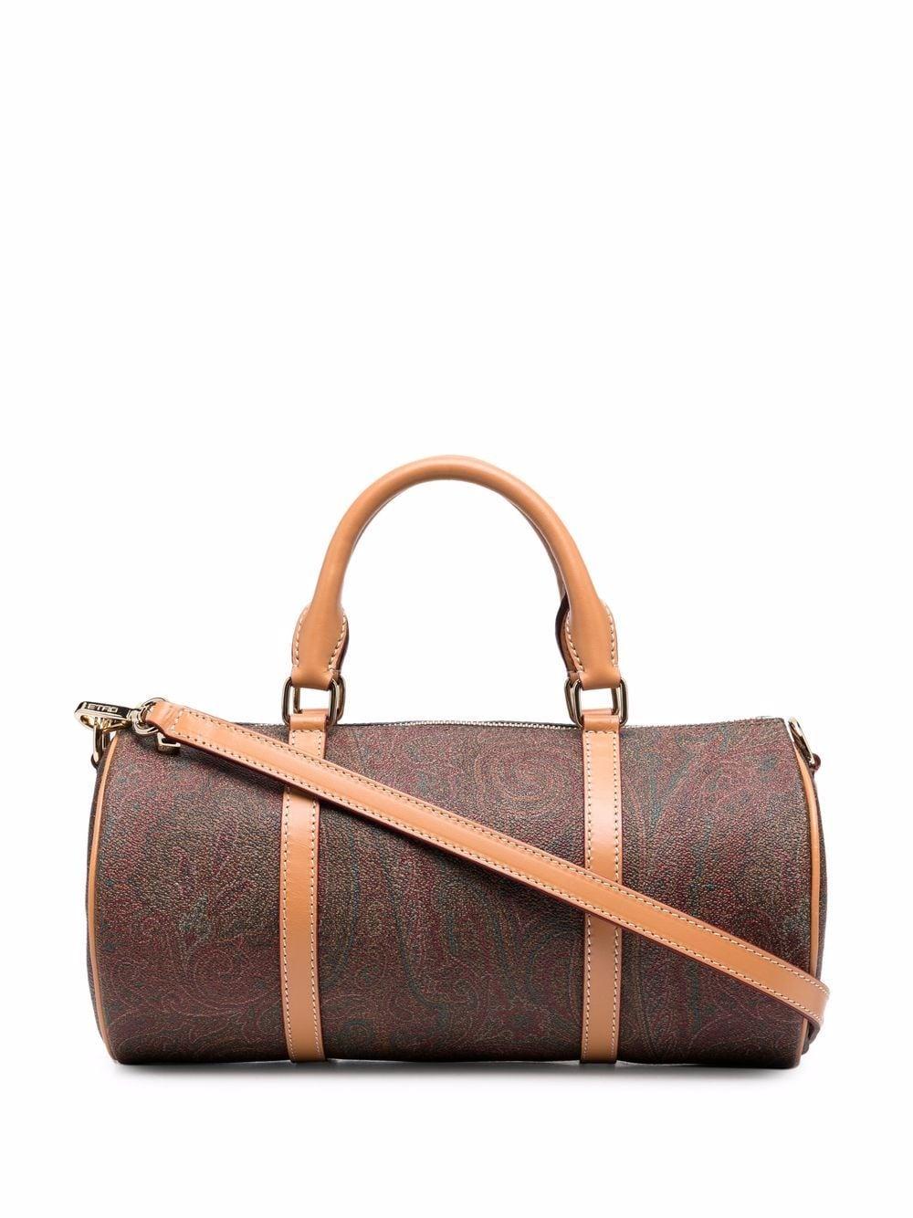 Etro Zylinderförmige Handtasche mit Paisley-Print - Braun