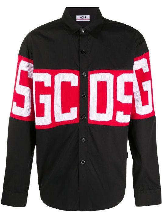 Gcds Hemd mit Logo - Schwarz