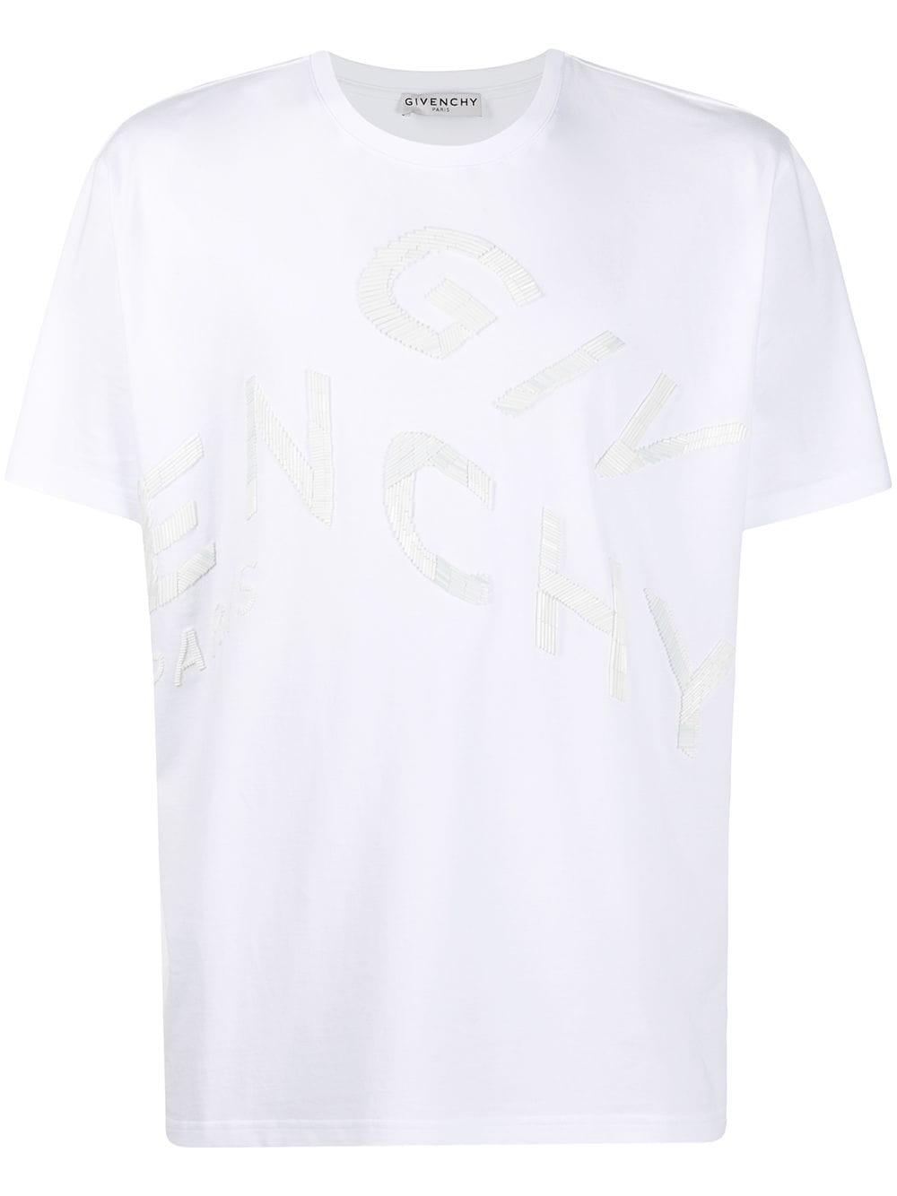 Givenchy T-Shirt mit aufgesticktem Logo - Weiß