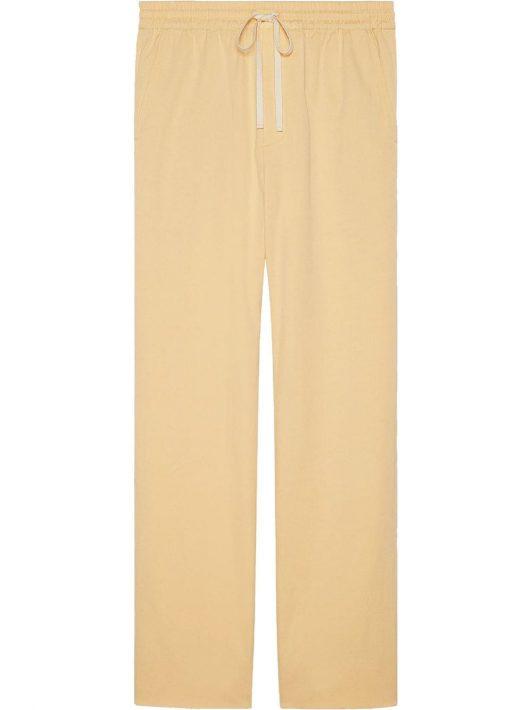 Gucci Gerade Hose mit Vintage-Check - Gelb