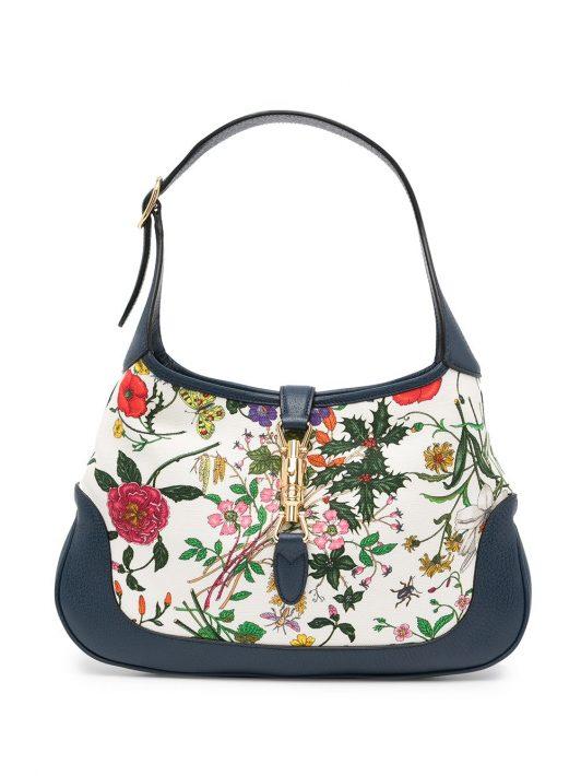 Gucci Pre-Owned Shopper mit Blumen-Print - Blau