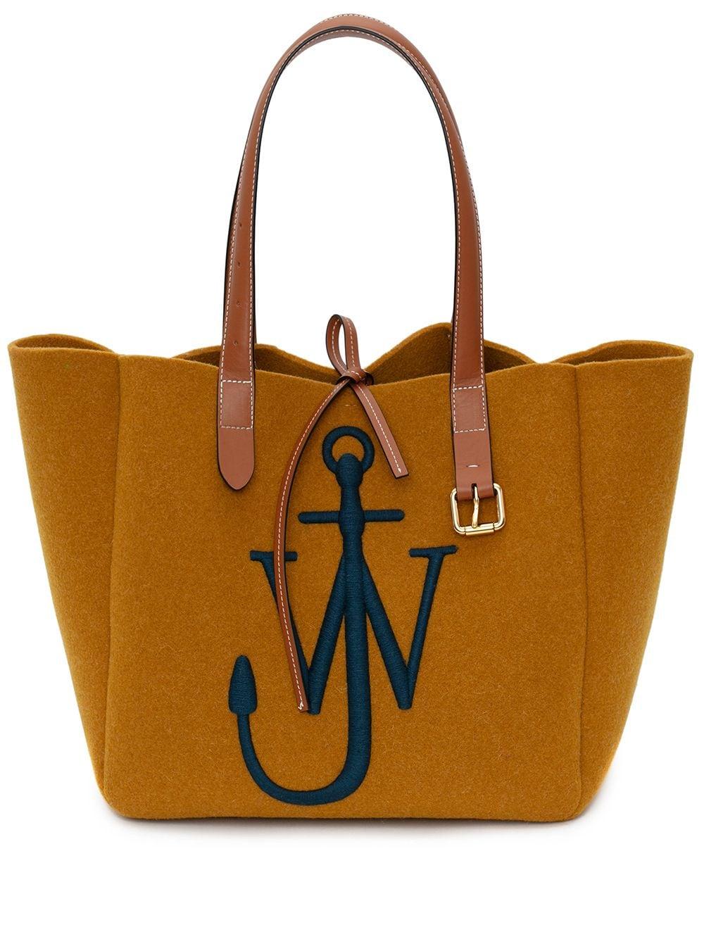 JW Anderson Handtasche mit Logo-Stickerei - Gelb
