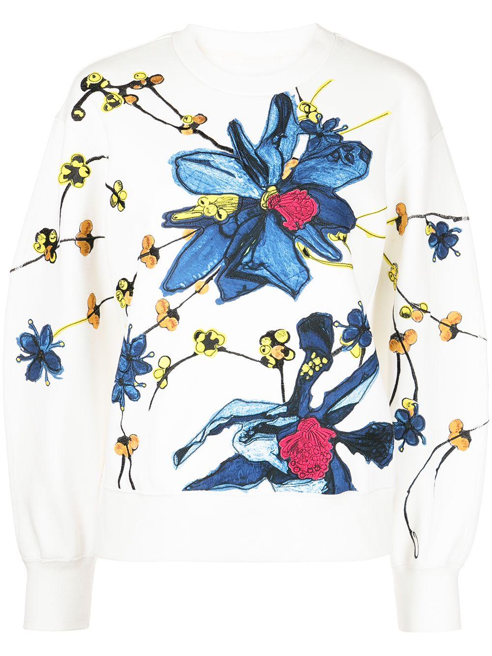 Jason Wu Collection Pullover mit Print - Weiß