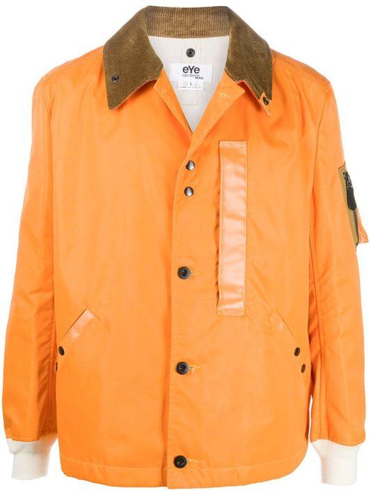 Junya Watanabe MAN Geknöpfte Jacke mit Cordkragen - Orange