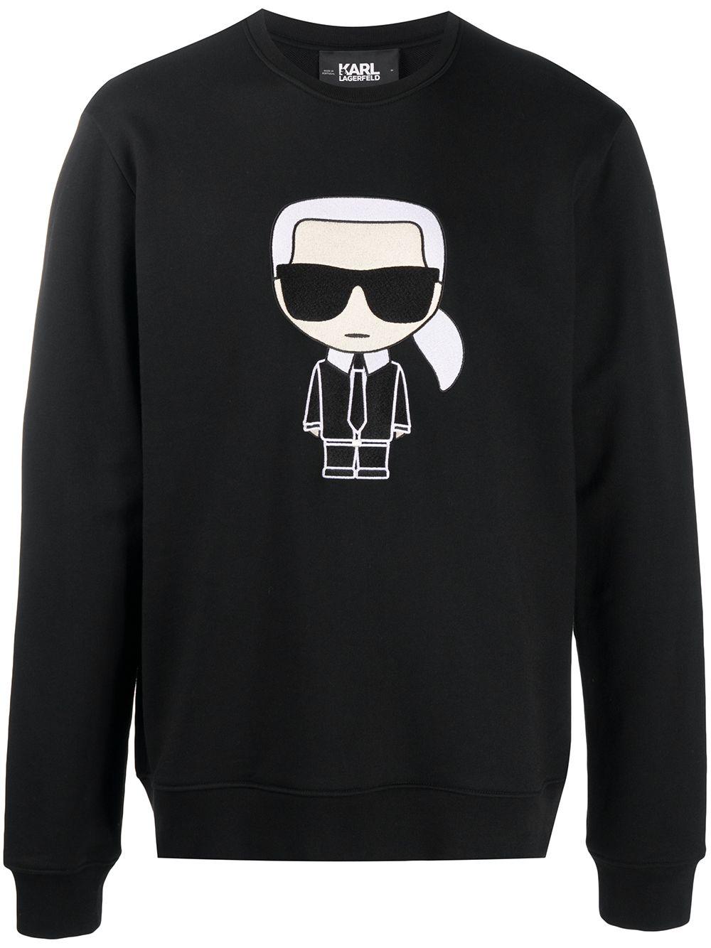 Karl Lagerfeld 'Ikonik' Sweatshirt - Schwarz
