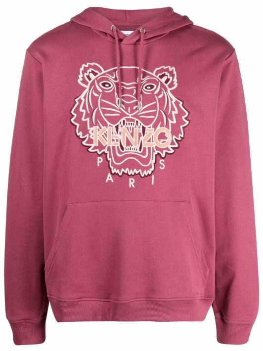 Kenzo tiger-embroidered hoodie - Rosa