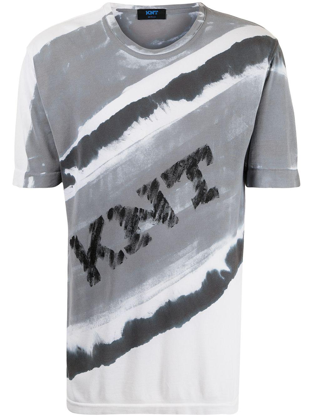 Kiton T-Shirt mit Logo-Print - Weiß