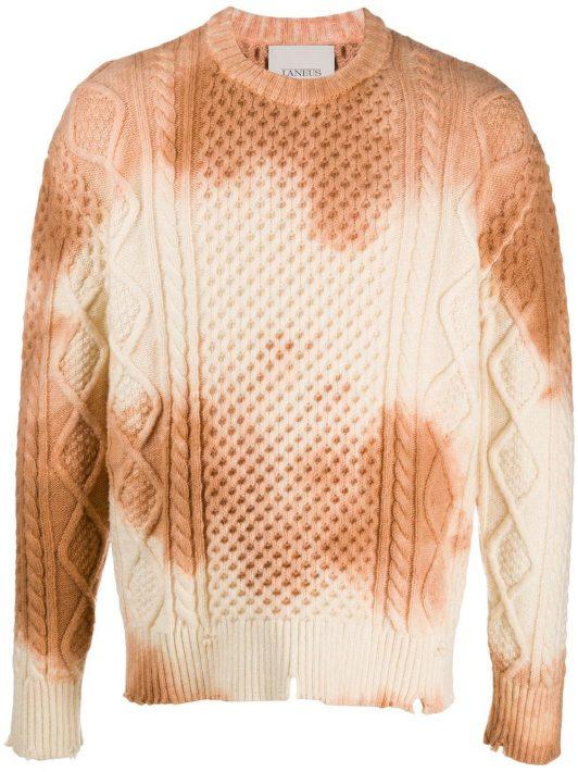 Laneus Pullover mit Batikmuster - Nude