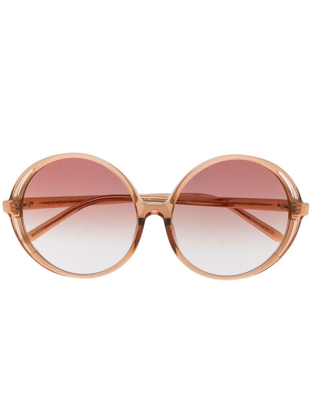 Linda Farrow 'Bianca' Sonnenbrille - Braun