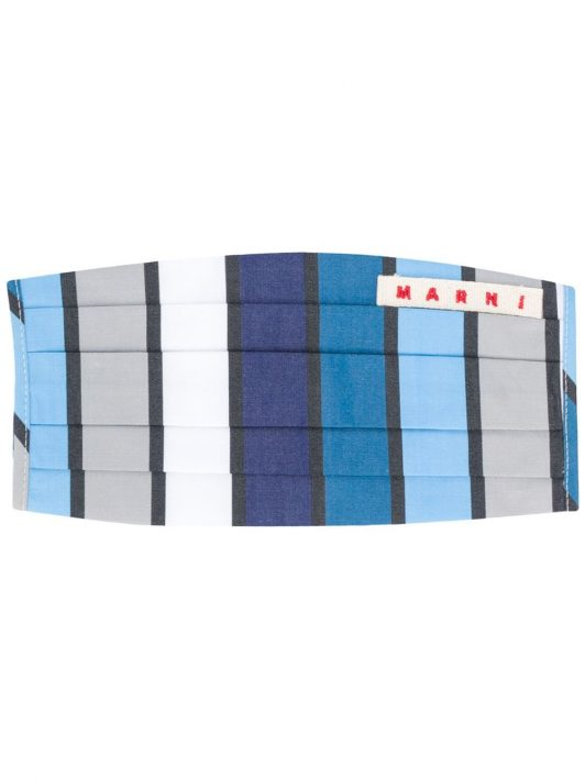 Marni Maske mit Print - Blau