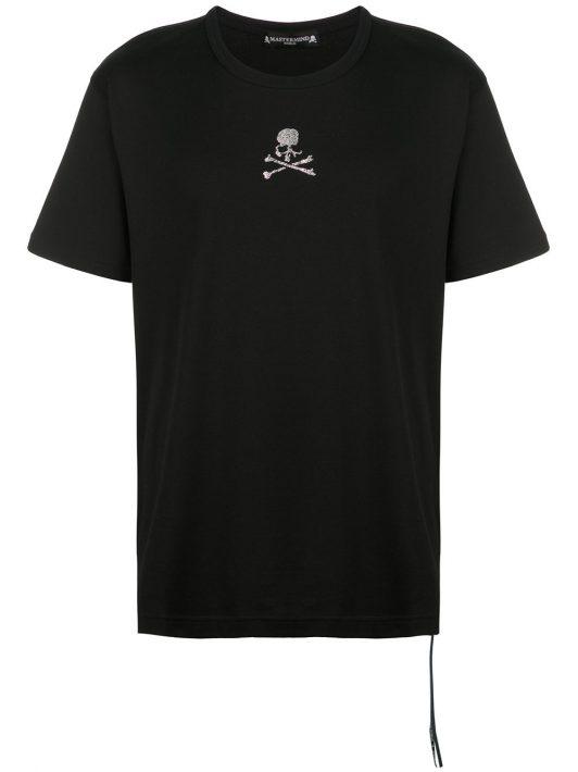 Mastermind World T-Shirt mit Totenkopf-Print - Schwarz