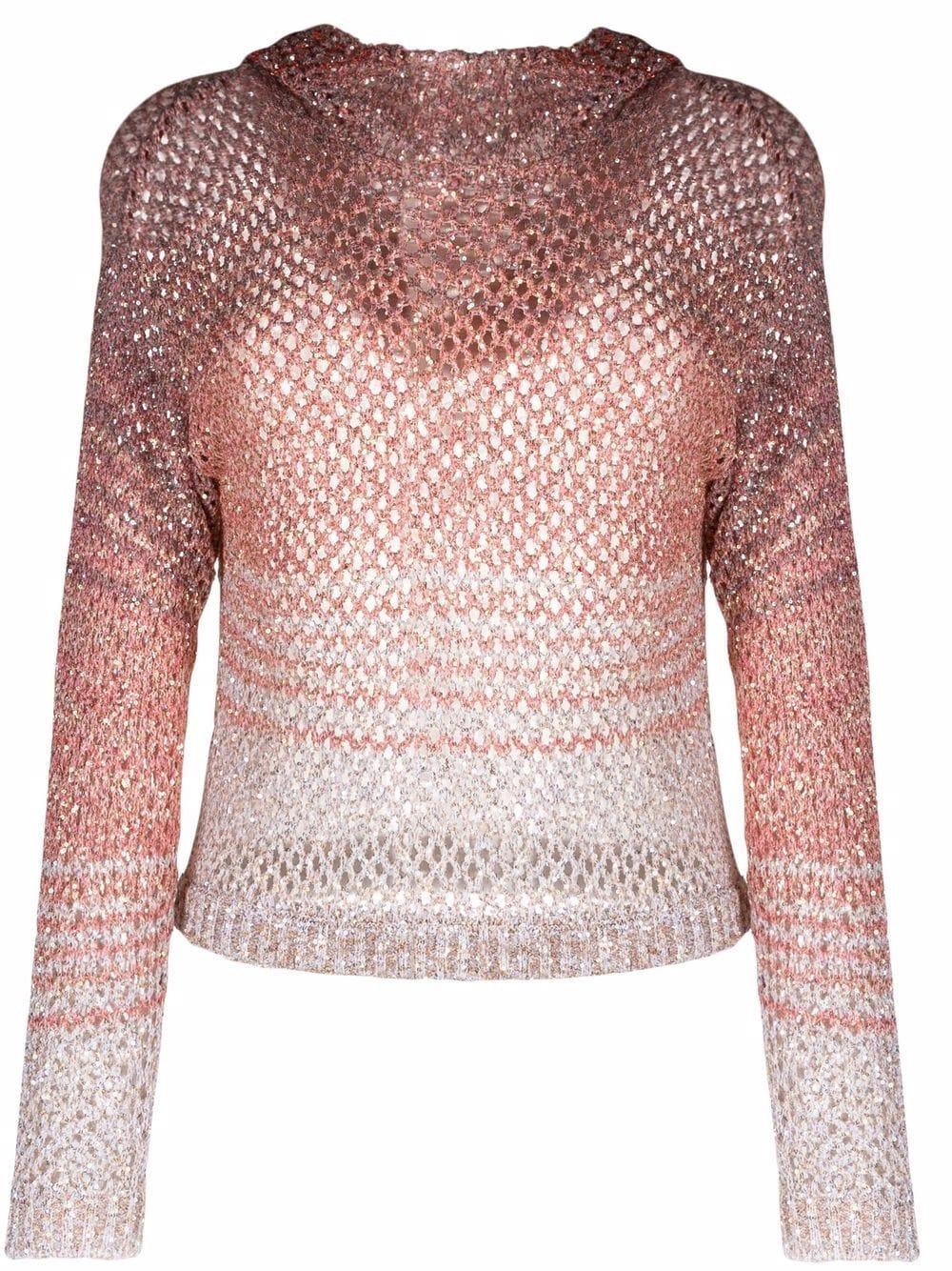 Missoni open-knit hooded jumper - Rosa