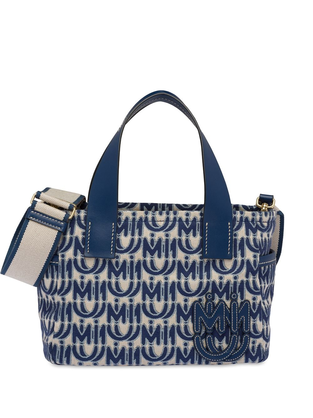 Miu Miu Handtasche mit Logo - Blau