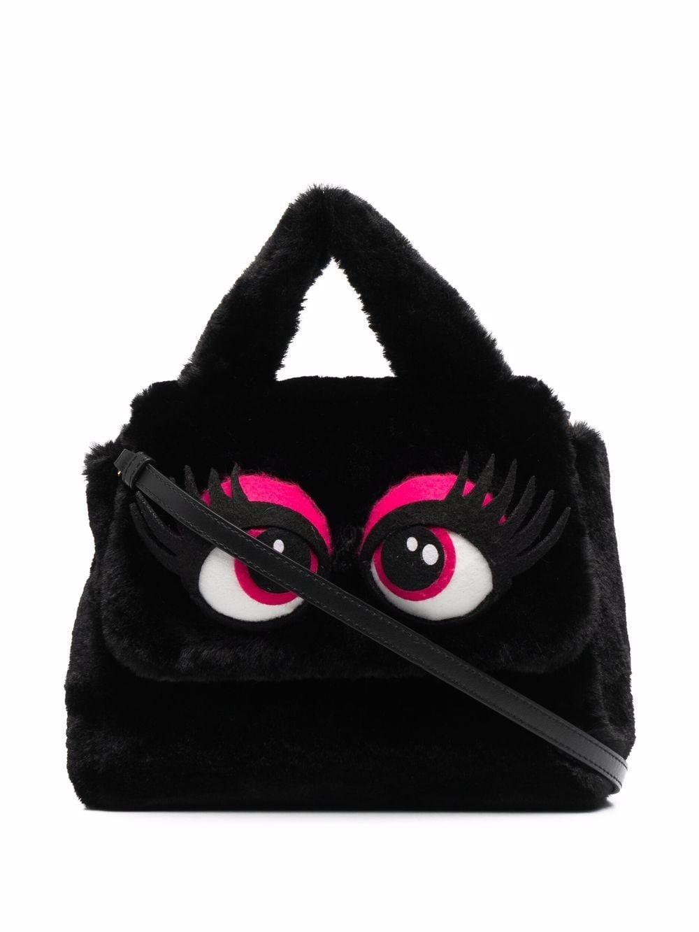 Moschino Strukturierte Handtasche - Schwarz