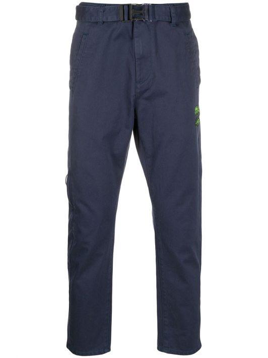 Off-White Hose mit geradem Bein - Blau