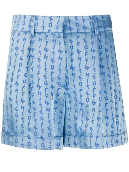 Off-White Shorts mit Logo - Blau