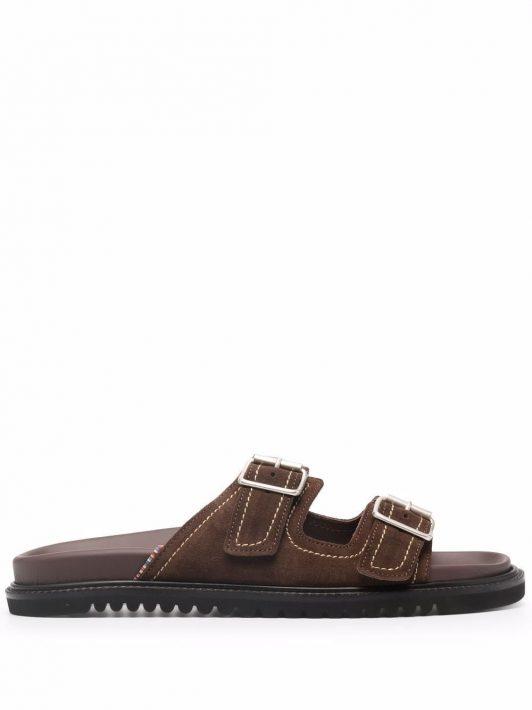 PAUL SMITH Phoenix buckled sandals - Braun