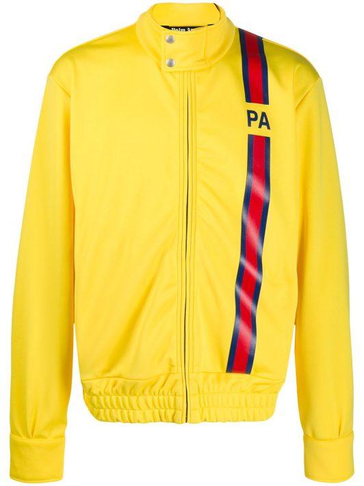 Palm Angels Sportjacke mit Logo-Streifen - Gelb