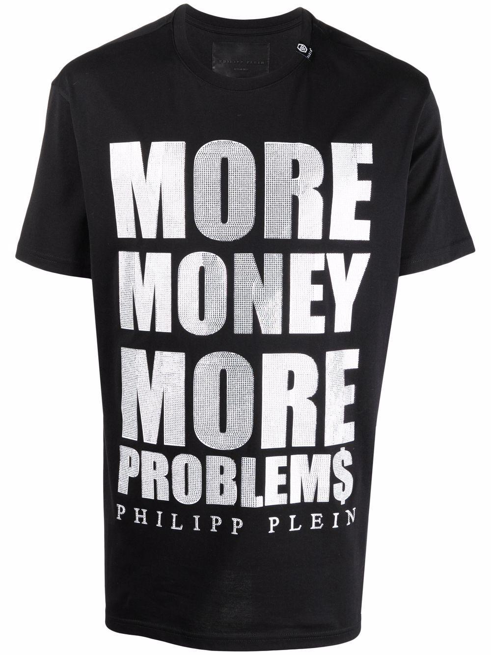 Philipp Plein T-Shirt mit Slogan-Print - Schwarz
