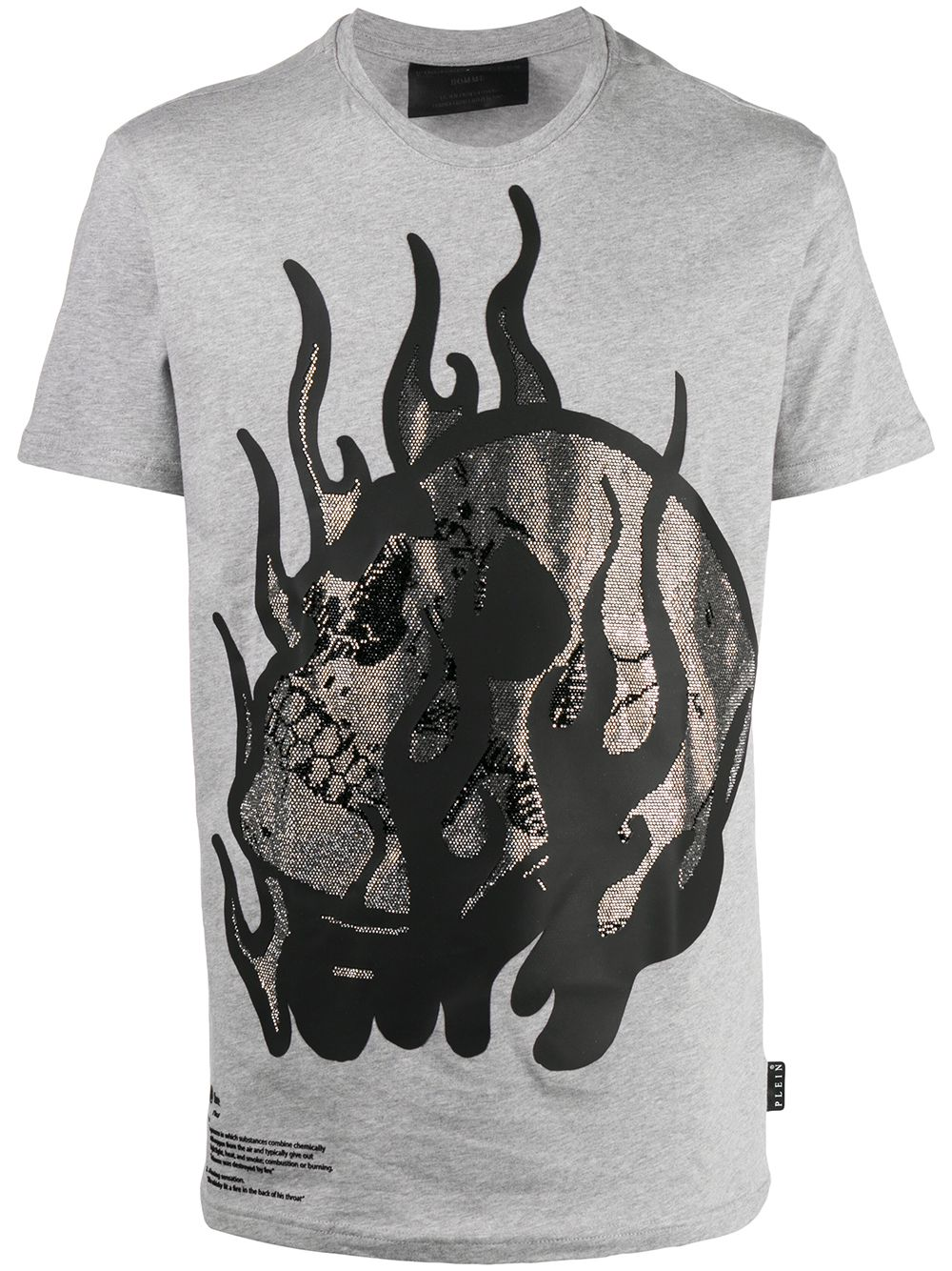 Philipp Plein T-Shirt mit Totenkopf - Grau