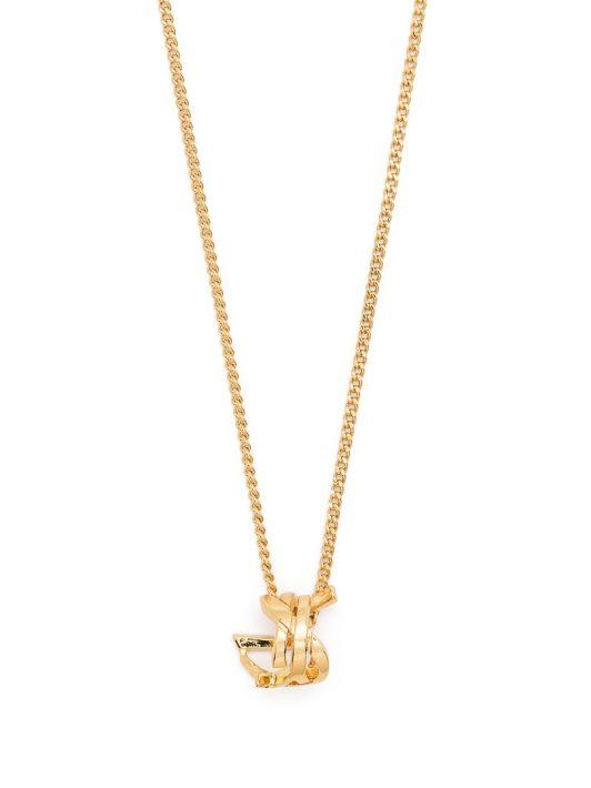 Saint Laurent Halskette mit Monogramm-Anhänger - Gold