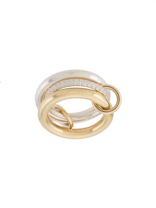 Spinelli Kilcollin 18kt Libra Gelbgold- und Silberring mit Diamanten - Mehrfarbig