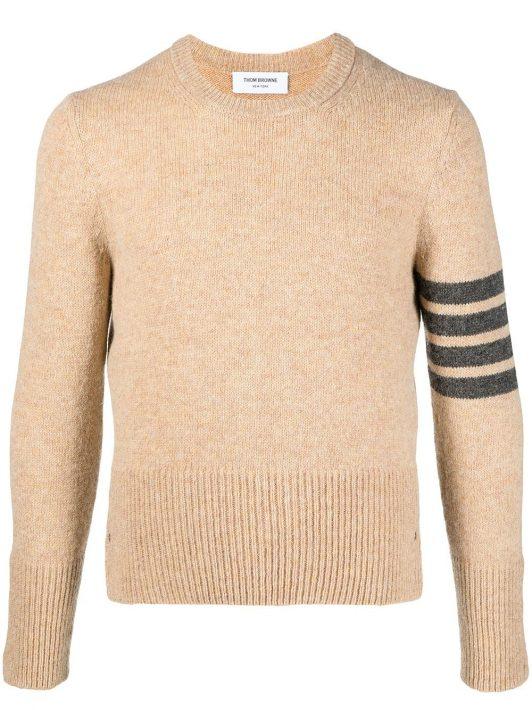 Thom Browne Grob gestrickter Pullover mit Streifen - Nude