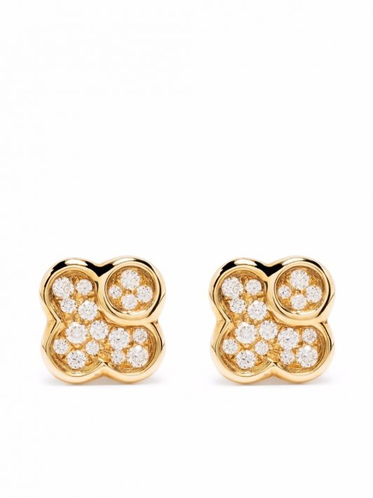 Tirisi 18kt Gelbgoldohrringe mit Diamanten
