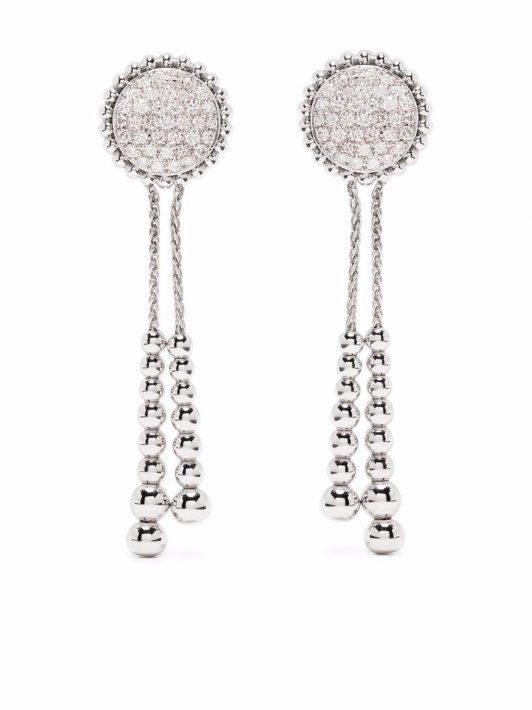 Tirisi 18kt Weißgoldohrringe mit Diamanten - Silber