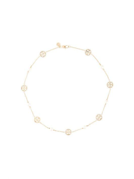 Tory Burch Kristallverzierte Halskette - Gold