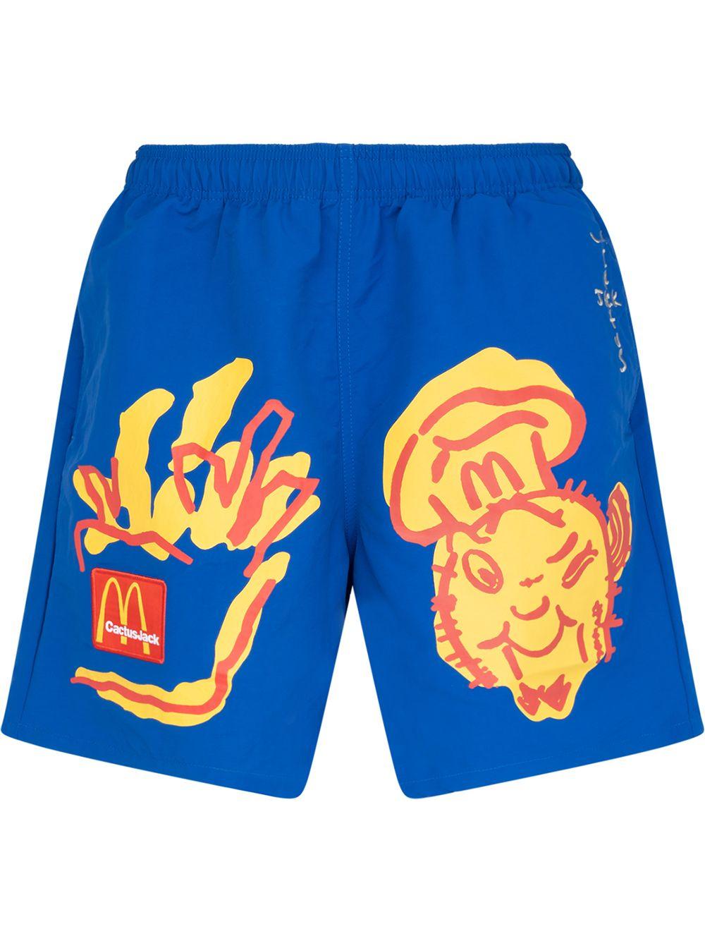 Travis Scott x McDonald's Illustration shorts - Blau