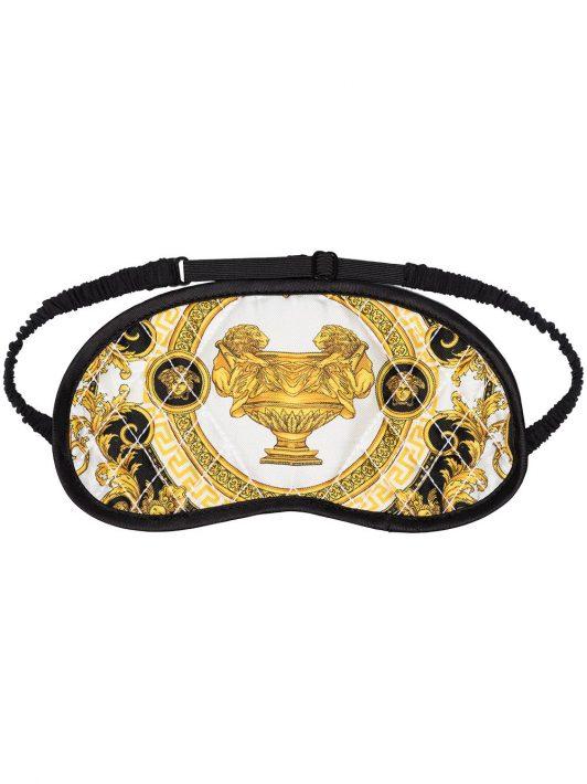 Versace Schlafmaske mit Barock-Print - Schwarz