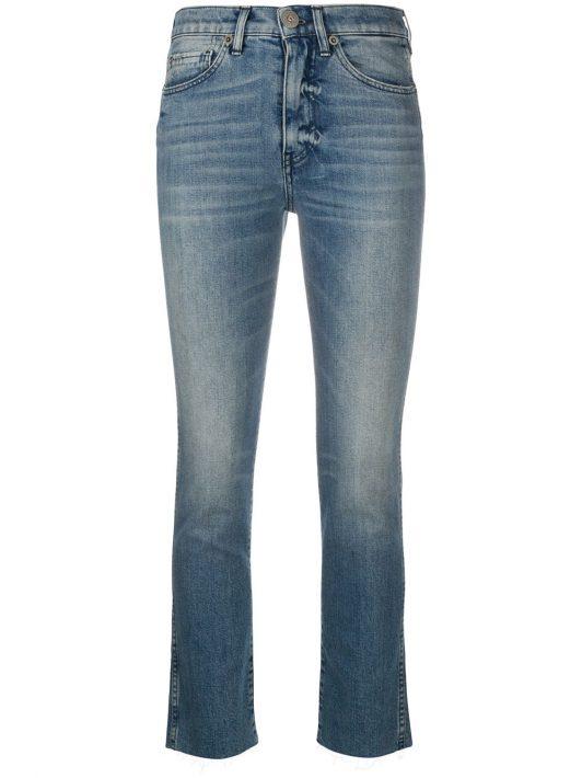 3x1 Skinny-Jeans mit Stone-Wash-Effekt - Blau